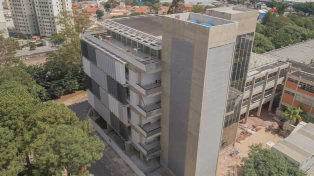 Foto aérea do prédio novo do Instituto-Maua